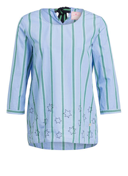 LIEBLINGSSTÜCK Bluse EDISA, Farbe: HELLBLAU/ HELLGRÜN GESTREIFT (Bild 1)