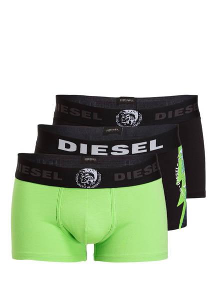 DIESEL 3er-Pack Boxershorts DAMIEN , Farbe: SCHWARZ/ HELLGRÜN (Bild 1)