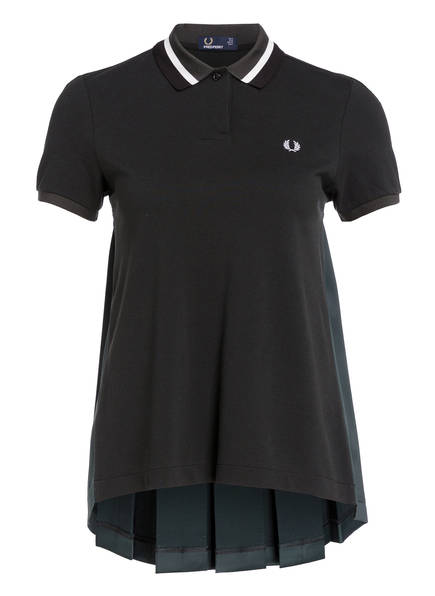 FRED PERRY Piqué-Poloshirt, Farbe: DUNKELGRÜN (Bild 1)