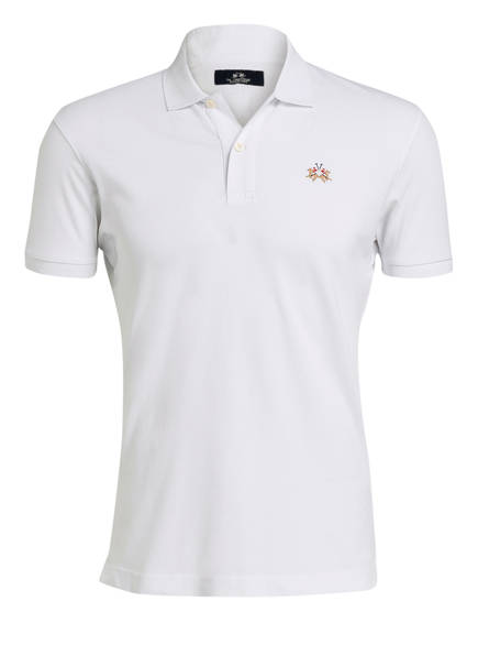 LA MARTINA Piqué-Poloshirt Slim Fit, Farbe: WEISS (Bild 1)