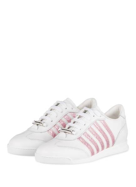 DSQUARED2 Sneaker NEW RUNNER, Farbe: WEISS/ ROSA (Bild 1)