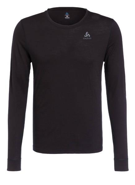 odlo Funktionswäsche-Shirt NATURAL WARM aus Merinowolle, Farbe: SCHWARZ (Bild 1)
