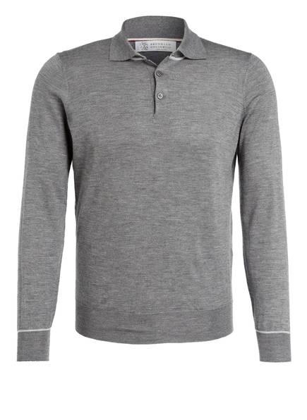 BRUNELLO CUCINELLI Cashmere-Poloshirt, Farbe: GRAU (Bild 1)