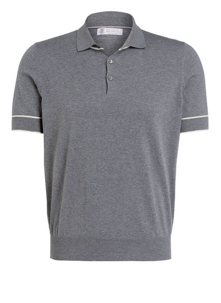 BRUNELLO CUCINELLI Poloshirt, Farbe: GRAU MELIERT (Bild 1)