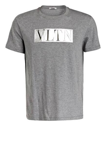 VALENTINO T-Shirt VLTN, Farbe: GRAU MELIERT (Bild 1)