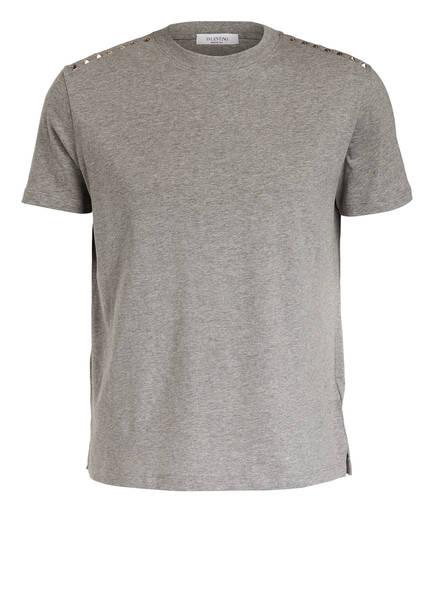 VALENTINO T-Shirt ROCKSTUD UNTITLED, Farbe: GRAU MELIERT (Bild 1)