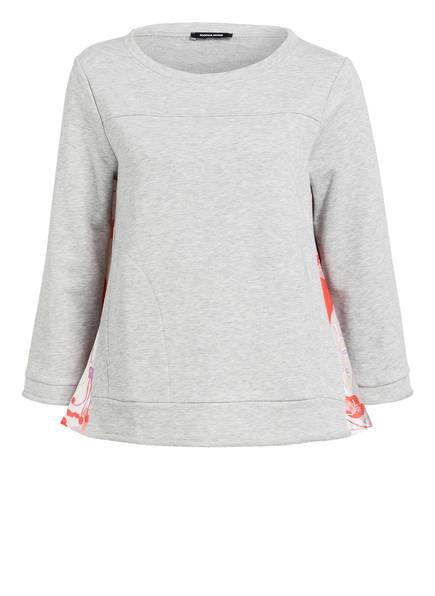 MORE & MORE Sweatshirt, Farbe: GRAU MELIERT/ SCHWARZ/ ORANGE (Bild 1)