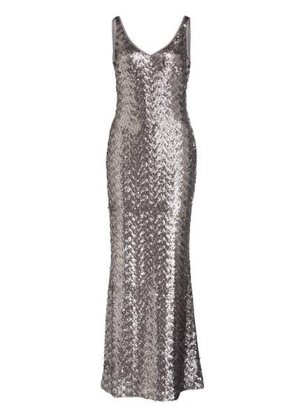 LAUREN RALPH LAUREN Abendkleid LEMONY mit Paillettenbesatz , Farbe: SILBER (Bild 1)