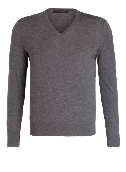 Ermenegildo Zegna Cashmere-Pullover mit Seidenanteil, Farbe: GRAU (Bild 1)
