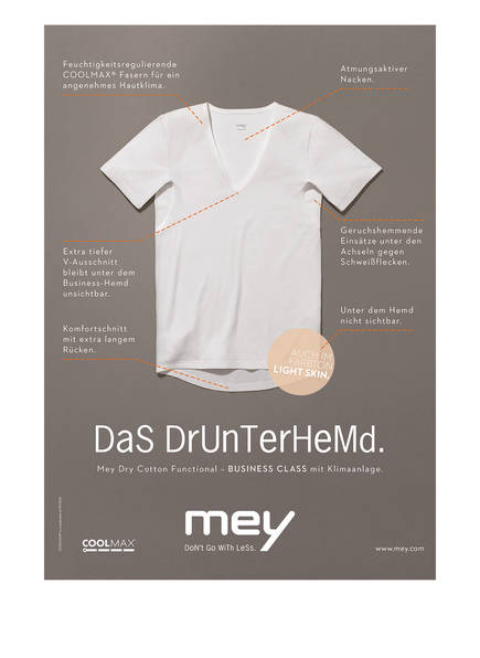 shirt V Weiss Cotton Mey Dry p6BqU5