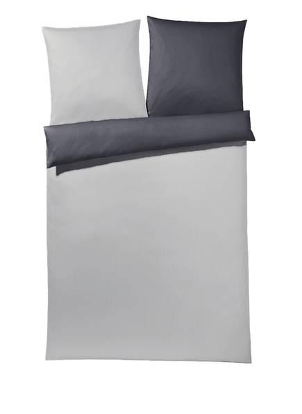 JOOP! Bettwäsche PLAZA PLAIN HONAN zum Wenden , Farbe: GRAU/ HELLGRAU (Bild 1)