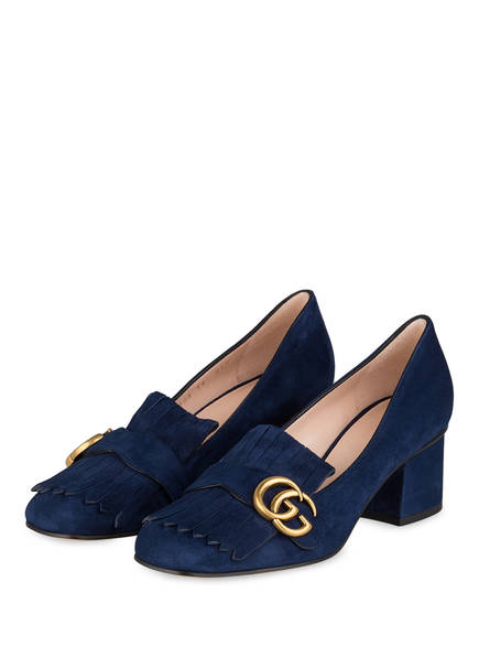 GUCCI College-Pumps GG MARMONT, Farbe: BLUE INK (Bild 1)