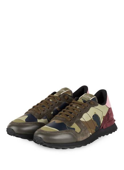 VALENTINO GARAVANI Sneaker ROCKRUNNER CAMOUFLAGE, Farbe: OLIV/ SCHWARZ/ DUNKELROT (Bild 1)
