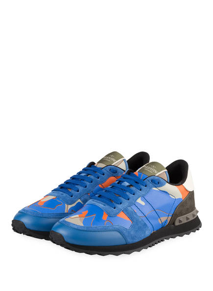VALENTINO GARAVANI Sneaker ROCKRUNNER CAMOUFLAGE, Farbe: BLAU/ ORANGE (Bild 1)