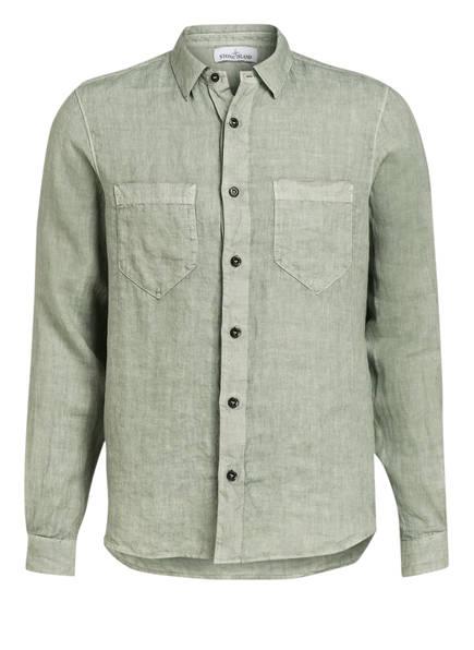 STONE ISLAND Leinenhemd Regular Fit, Farbe: GRÜN (Bild 1)