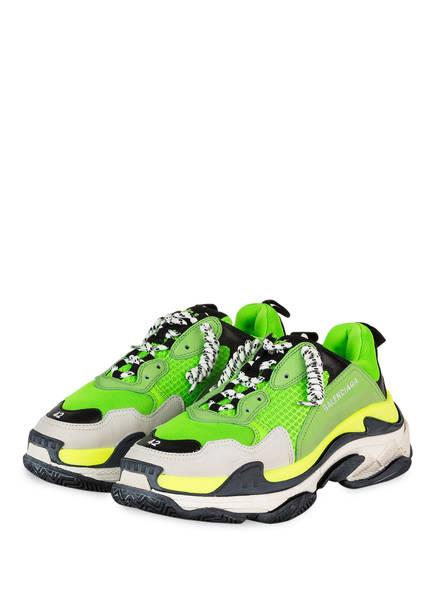 BALENCIAGA Sneaker TRIPLE S, Farbe: NEONGRÜN (Bild 1)