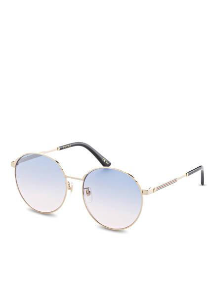 GUCCI Sonnenbrille GG0206SK, Farbe: 007 - GOLD/ BLAU VERLAUF (Bild 1)