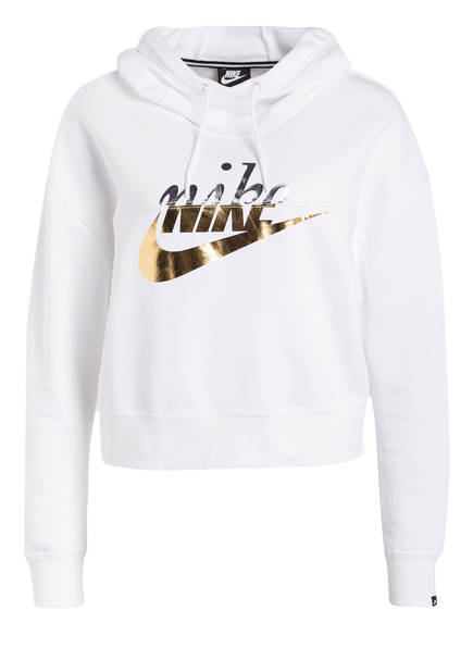 Nike Cropped-Hoodie RALLY METALLIC, Farbe: WEISS (Bild 1)