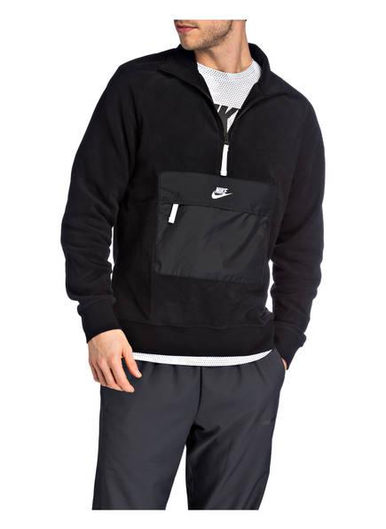 Im Core Fleecepullover Materialmix Schwarz Nike qzECpawx