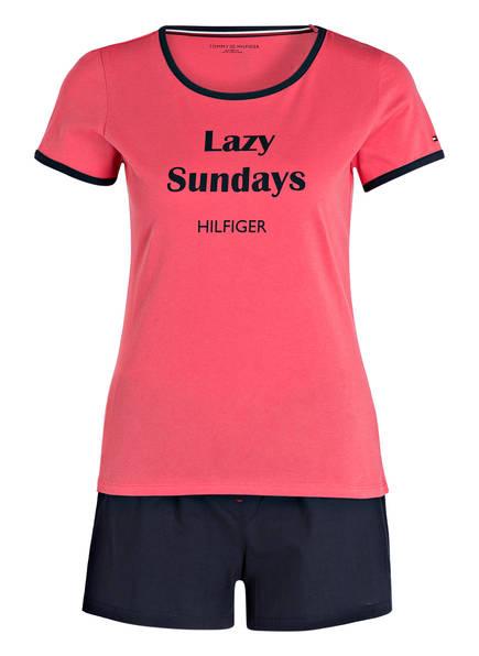 Shorty schlafanzug Navy Hilfiger Tommy Hellrot 8xqHAU5nw