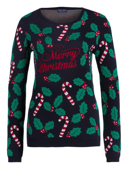DARLING HARBOUR Pullover, Farbe: DUNKELBLAU/ GRÜN/ ROT (Bild 1)