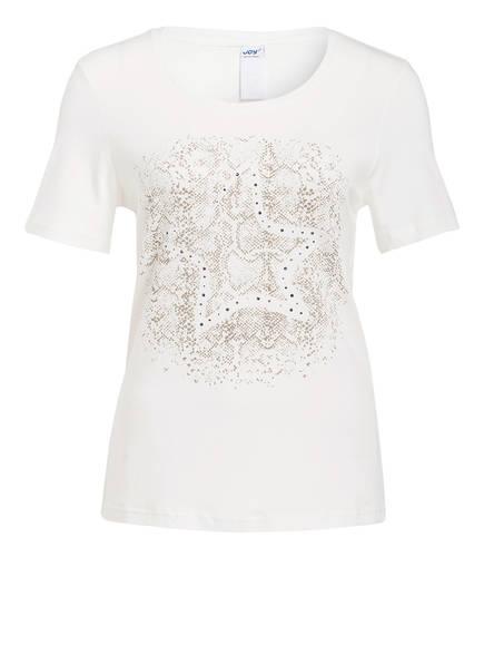 JOY sportswear T-Shirt ANNIKA mit Schmucksteinbesatz, Farbe: OFFWHITE (Bild 1)