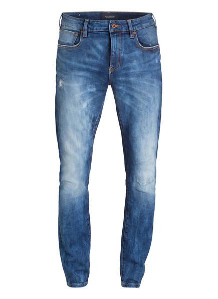 SCOTCH & SODA Jeans SKIM Skinny Fit, Farbe: 2723 BLUE REPAIR (Bild 1)