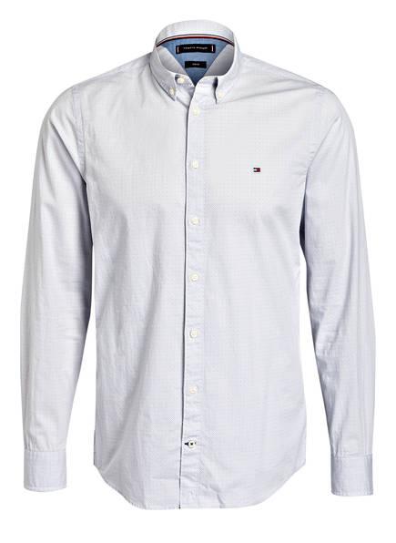 TOMMY HILFIGER Hemd Slim Fit, Farbe: WEISS/ GRAU (Bild 1)
