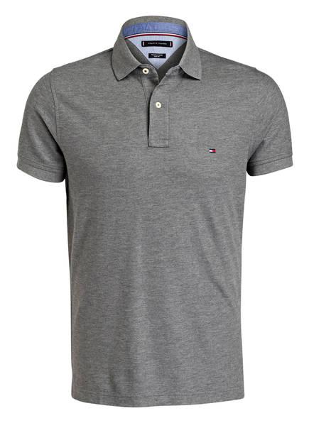 TOMMY HILFIGER Piqué-Poloshirt Slim Fit , Farbe: DUNKELGRAU (Bild 1)