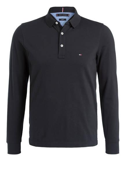 TOMMY HILFIGER Piqué-Poloshirt Slim Fit, Farbe: SCHWARZ (Bild 1)