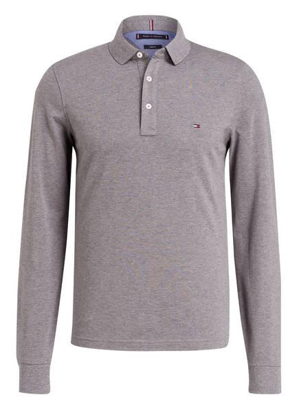 TOMMY HILFIGER Piqué-Poloshirt Slim Fit, Farbe: GRAU MELIERT (Bild 1)