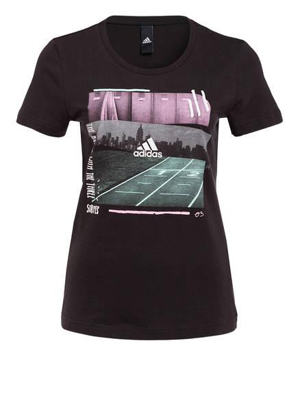 adidas T-Shirt, Farbe: SCHWARZ (Bild 1)