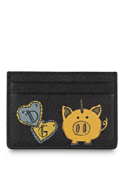 DOLCE&GABBANA Kartenetui mit Geldklammer, Farbe: SCHWARZ (Bild 1)