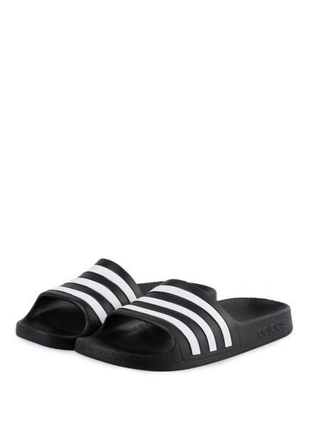 adidas Adilette Aqua 2019 schwarzweiss Badeschuhe Damen