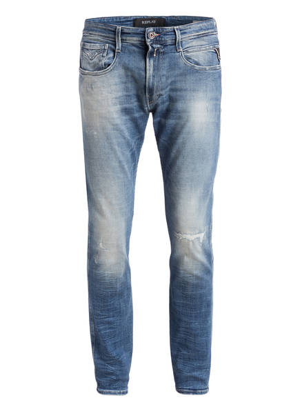 REPLAY Destroyed-Jeans ANBASS Slim Fit, Farbe: 010 LIGHT BLUE  (Bild 1)
