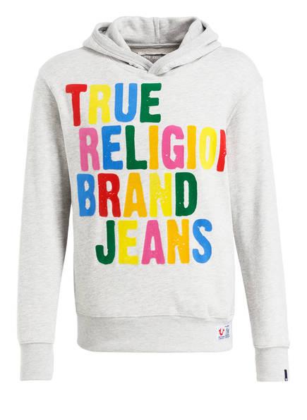 TRUE RELIGION Hoodie, Farbe: HELLGRAU MELIERT (Bild 1)