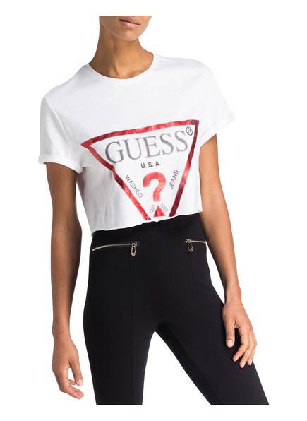 Weiss Guess shirt Cropped Guess Cropped 6zInqaz0W