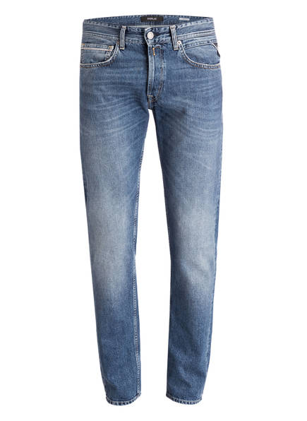 REPLAY Jeans GROVER Straight Fit , Farbe: 009 MEDIUM BLUE (Bild 1)