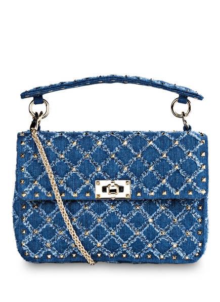 VALENTINO GARAVANI Handtasche SPIKE MEDIUM, Farbe: DENIM (Bild 1)