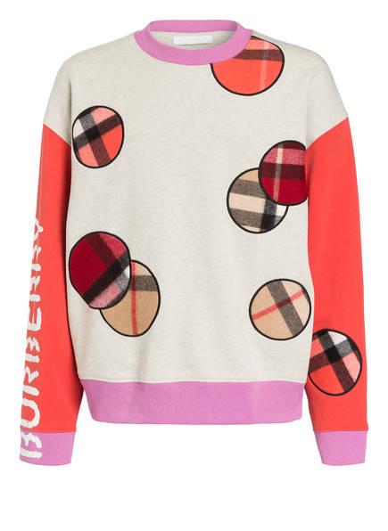 BURBERRY Sweatshirt, Farbe: CREME/ ROT/ LILA (Bild 1)