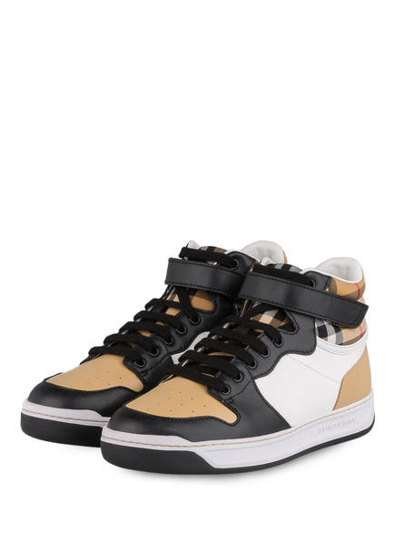 BURBERRY Hightop-Sneaker DUKE, Farbe: BEIGE/ SCHWARZ/ WEISS (Bild 1)