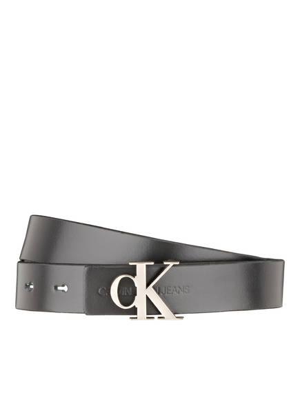 Calvin Klein Jeans Ledergürtel, Farbe: SCHWARZ (Bild 1)