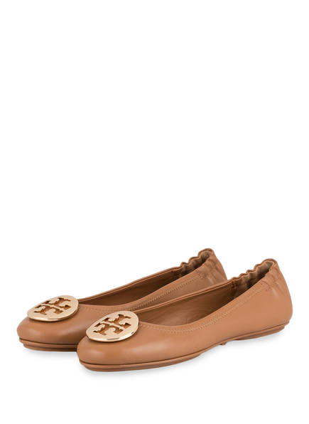 TORY BURCH Ballerinas MINNIE TRAVEL, Farbe: HELLBRAUN (Bild 1)