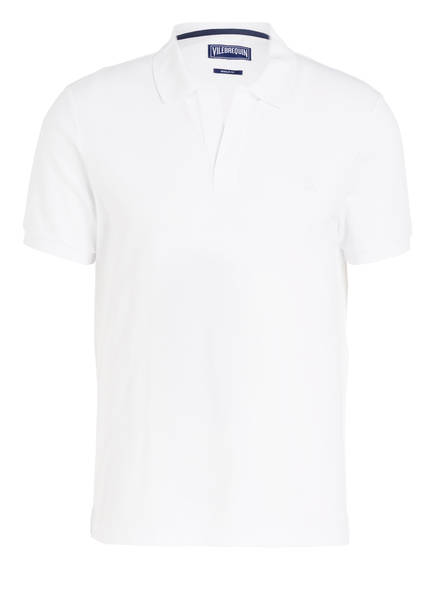 VILEBREQUIN Piqué-Poloshirt Regular Fit, Farbe: WEISS (Bild 1)