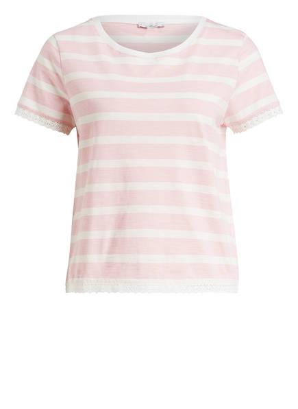 mavi T-Shirt LACE, Farbe: HELLROSA/ WEISS GESTREIFT (Bild 1)
