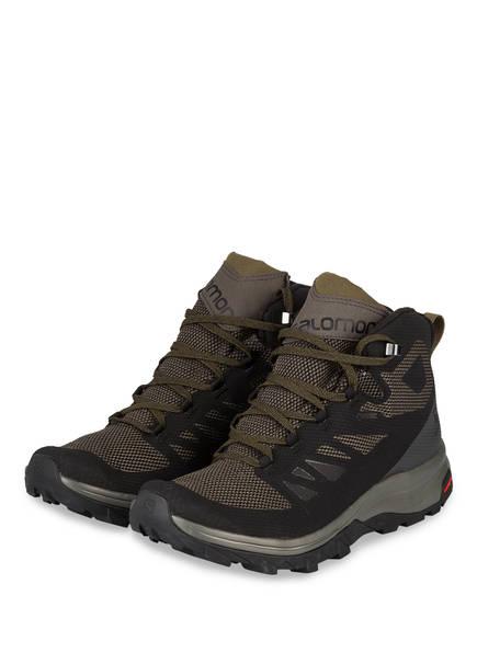 SALOMON Trekking-Schuhe OUTLINE MID GTX , Farbe: SCHWARZ/ OLIV (Bild 1)