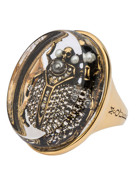 ALEXANDER McQUEEN Ring, Farbe: GOLD/ TRANSPARENT (Bild 1)