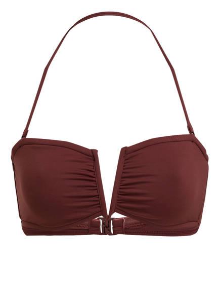 SEAFOLLY Bandeau-Bikini-Top ACTIVE, Farbe: BORDEAUX (Bild 1)