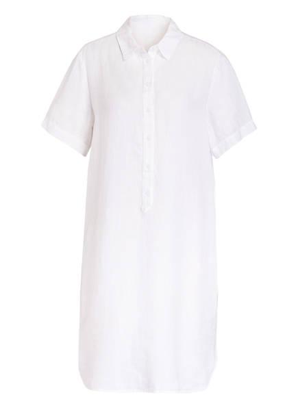 120%lino Hemdblusenkleid aus Leinen, Farbe: WEISS (Bild 1)