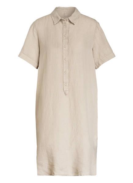120%lino Hemdblusenkleid aus Leinen, Farbe: BEIGE (Bild 1)